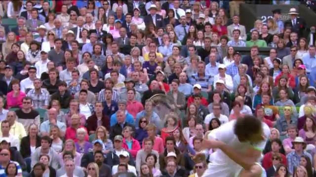 Federers Rückhand mit 150 km/h