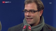 Video «Fussball: Champions League, Schalke - Basel, Georg Heitz zur «Causa Yakin»» abspielen