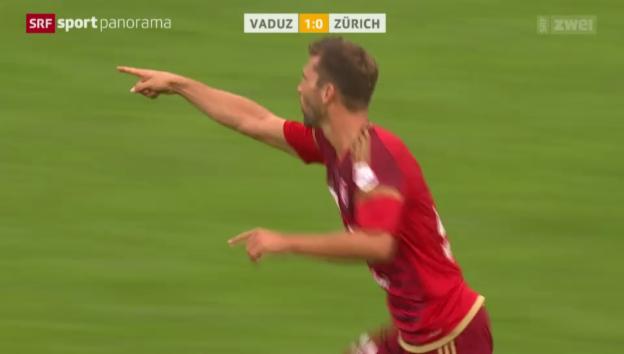 Video «Fussball: Muntwiler trifft gegen den FCZ» abspielen
