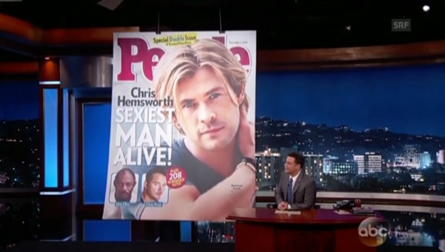 Video «Chris Hemsworths Magazincover wird enthüllt» abspielen