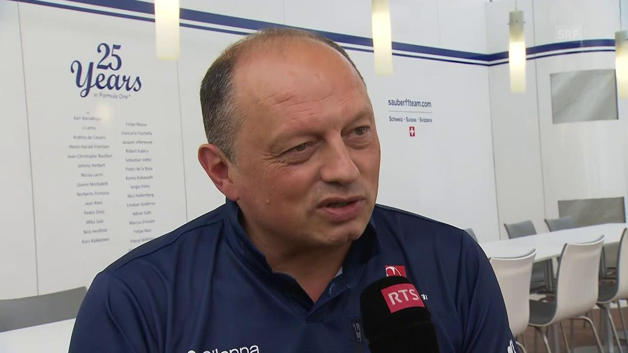 Vasseur: «Wir haben nun drei Optionen» (franz.)