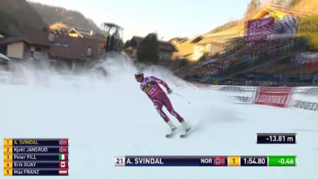 Video «Ski Alpin, Weltcup Männer in Gröden, Abfahrt Svindal» abspielen