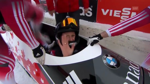 Video «Bob: Weltcup Calgary, Vierer, Humphries» abspielen