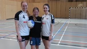 Video «Handball spielen mit zwei Profis» abspielen