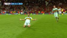 Video «Belgiens Doppelschlag gegen Ungarn» abspielen