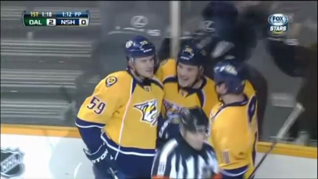 Video «Eishockey: Josi mit Assist gegen Dallas» abspielen