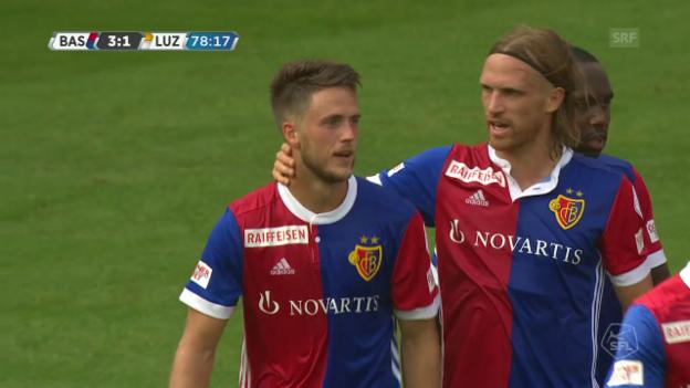 Video «Ricky van Wolfswinkel trifft für Basel» abspielen