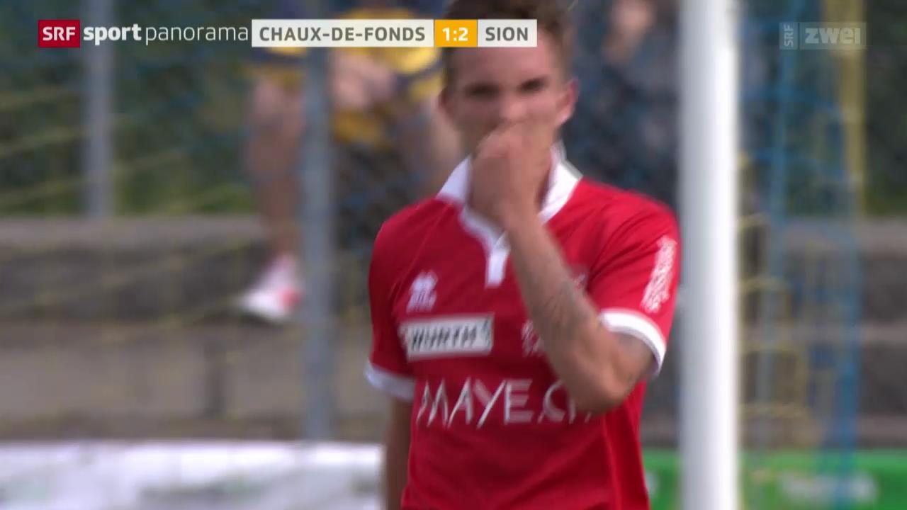 Fussball, Schweizer Cup: La Chaux-de-Fonds - Sion