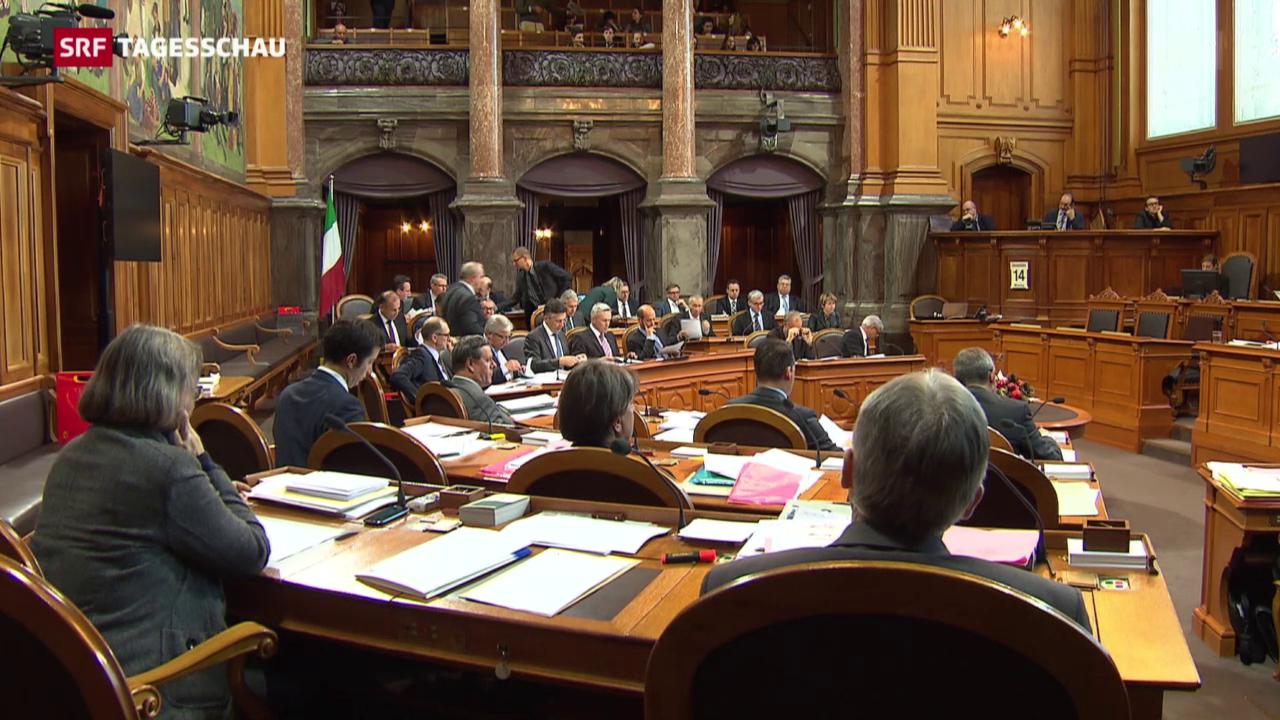 Ständeratsdebatte über Unternehmenssteuerreform III