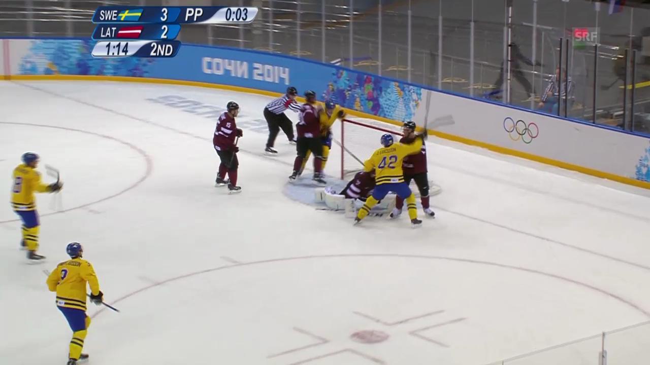 Eishockey: Schweden - Lettland, Tore (sotschi direkt, 15.02.2014)