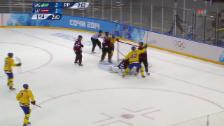 Video «Eishockey: Schweden - Lettland, Tore (sotschi direkt, 15.02.2014)» abspielen