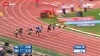 Video «Leichtathletik: 100-m-Rennen in Rom» abspielen