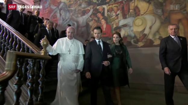 Video «Der Papst besucht Mexiko» abspielen