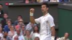 Video «Djokovic in den Viertelfinals («sportaktuell»)» abspielen