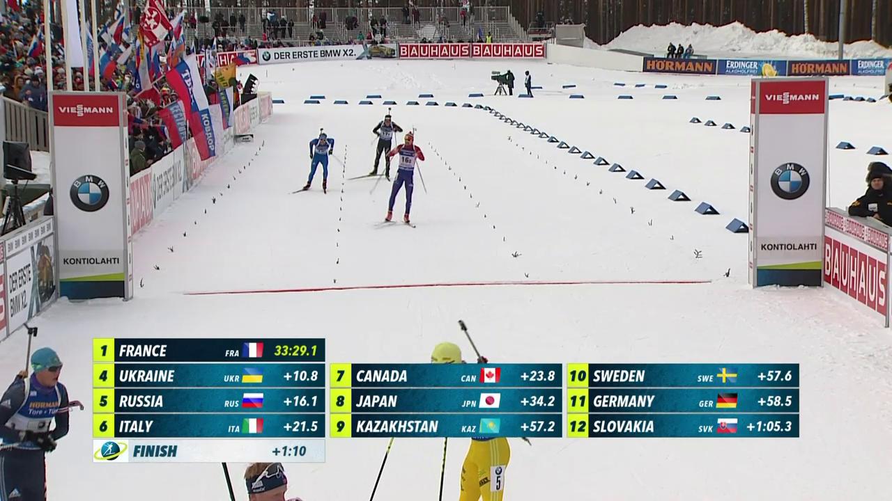 Schweizer Einzel-Mixed-Staffel weit zurück
