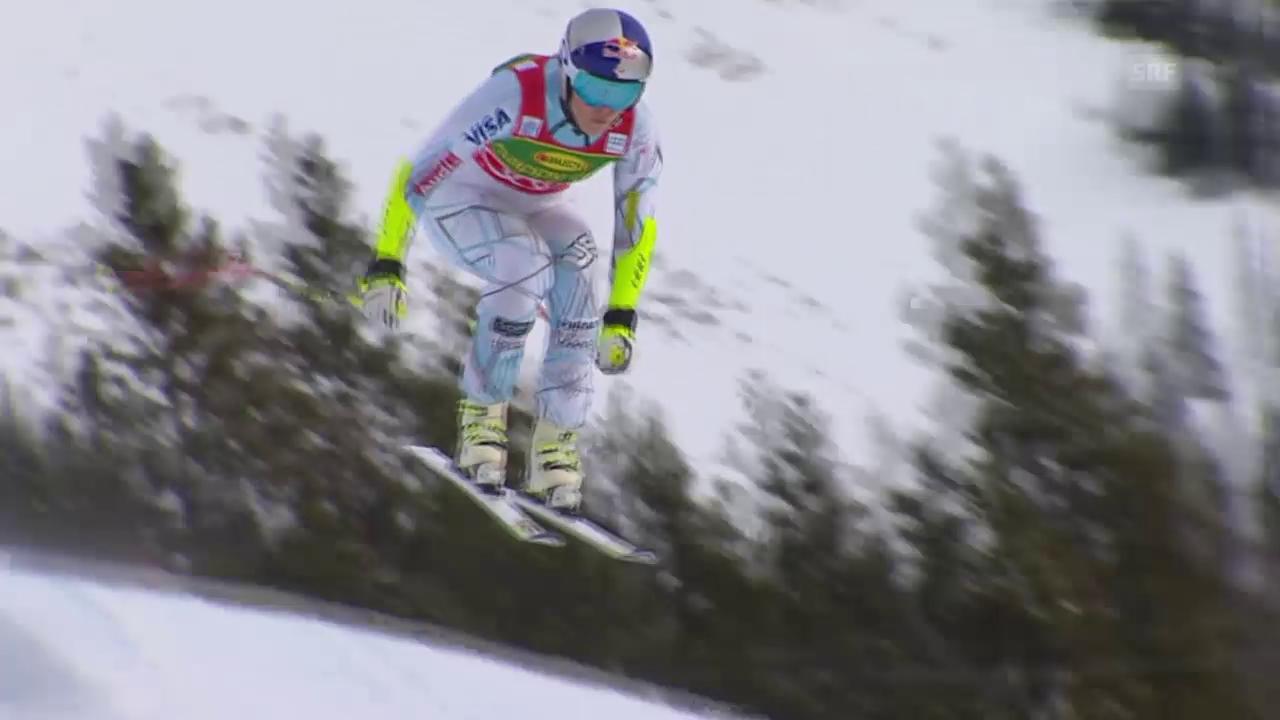 Ski alpin: Super-G Frauen in Lake Louise, Siegsfahrt von Lindsey Vonn