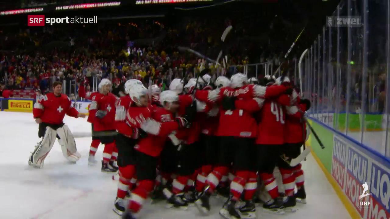 Die Schweiz schlägt Kanada im WM-Halbfinal