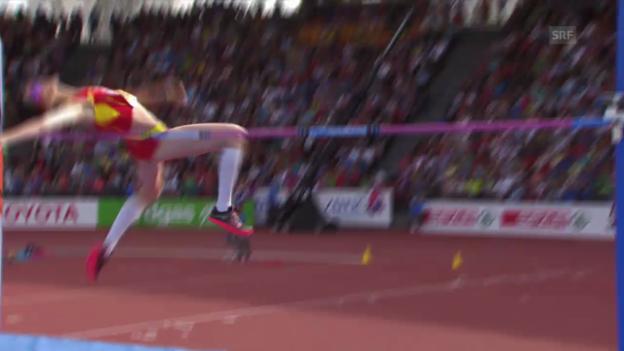 Video «Leichtathletik-EM: Hochsprung Frauen, der Siegessprung von Ruth Beitia» abspielen