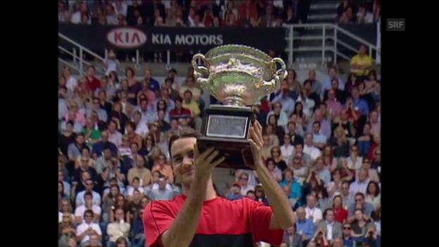 Video «2004: Federer siegt gegen Safin» abspielen