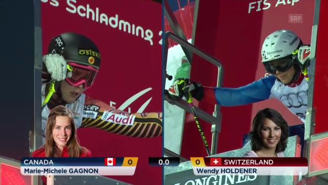 Ski-WM: Teamevent, Holdener-Gagnon
