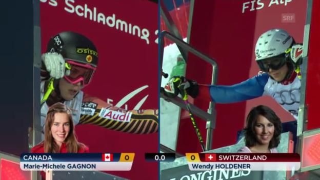 Video «Ski-WM: Teamevent, Holdener-Gagnon» abspielen