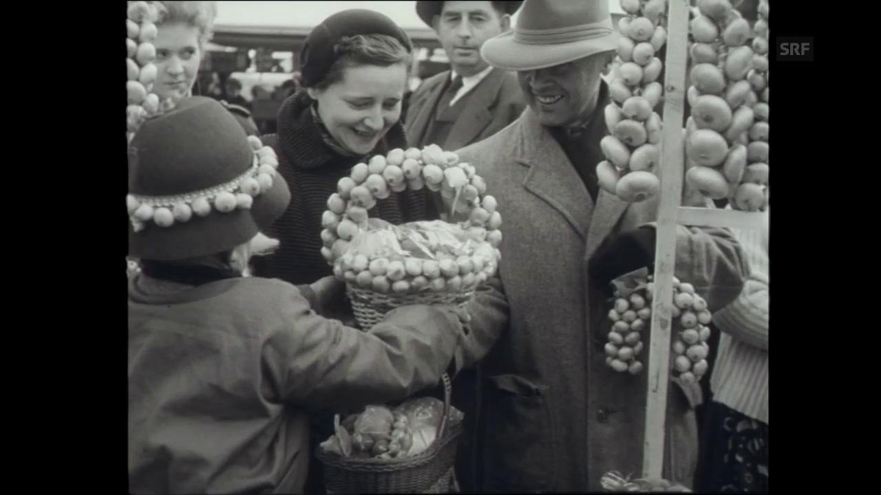 Der Zibelemärit 1954.