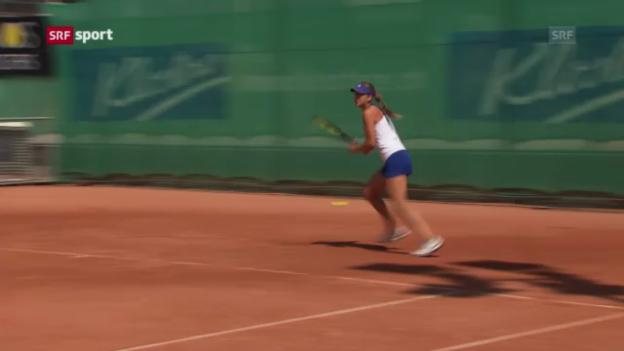 Video «Belinda Bencic - Die Tennis-Hoffnung vor einer grossen Zukunft («sportaktuell» vom 24.07.2013)» abspielen