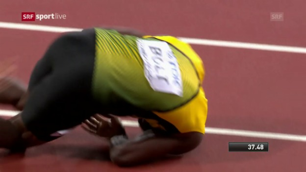 Laschar ir video «Drama enturn Usain Bolt»