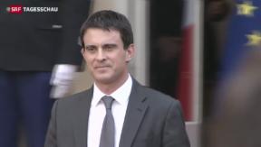 Video «Neuer Premier in Frankreich im Amt» abspielen