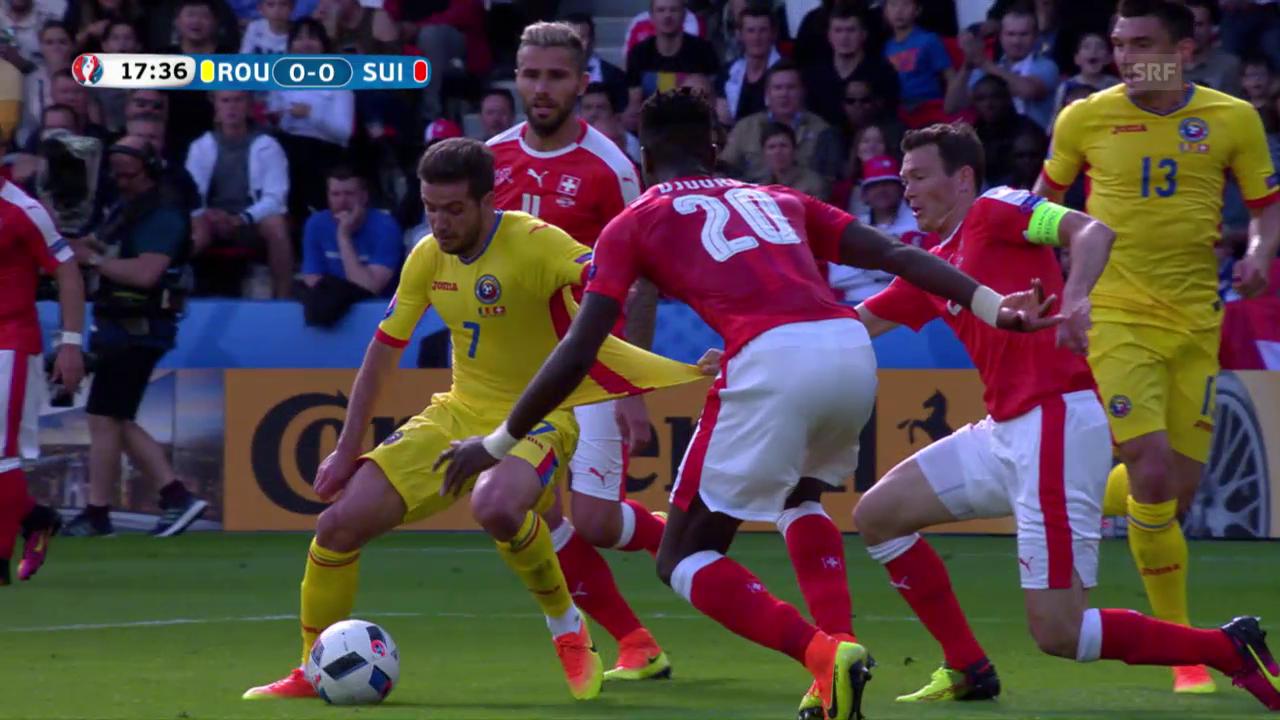 Lichtsteiner zieht und zieht, Stancu verwandelt den Penalty