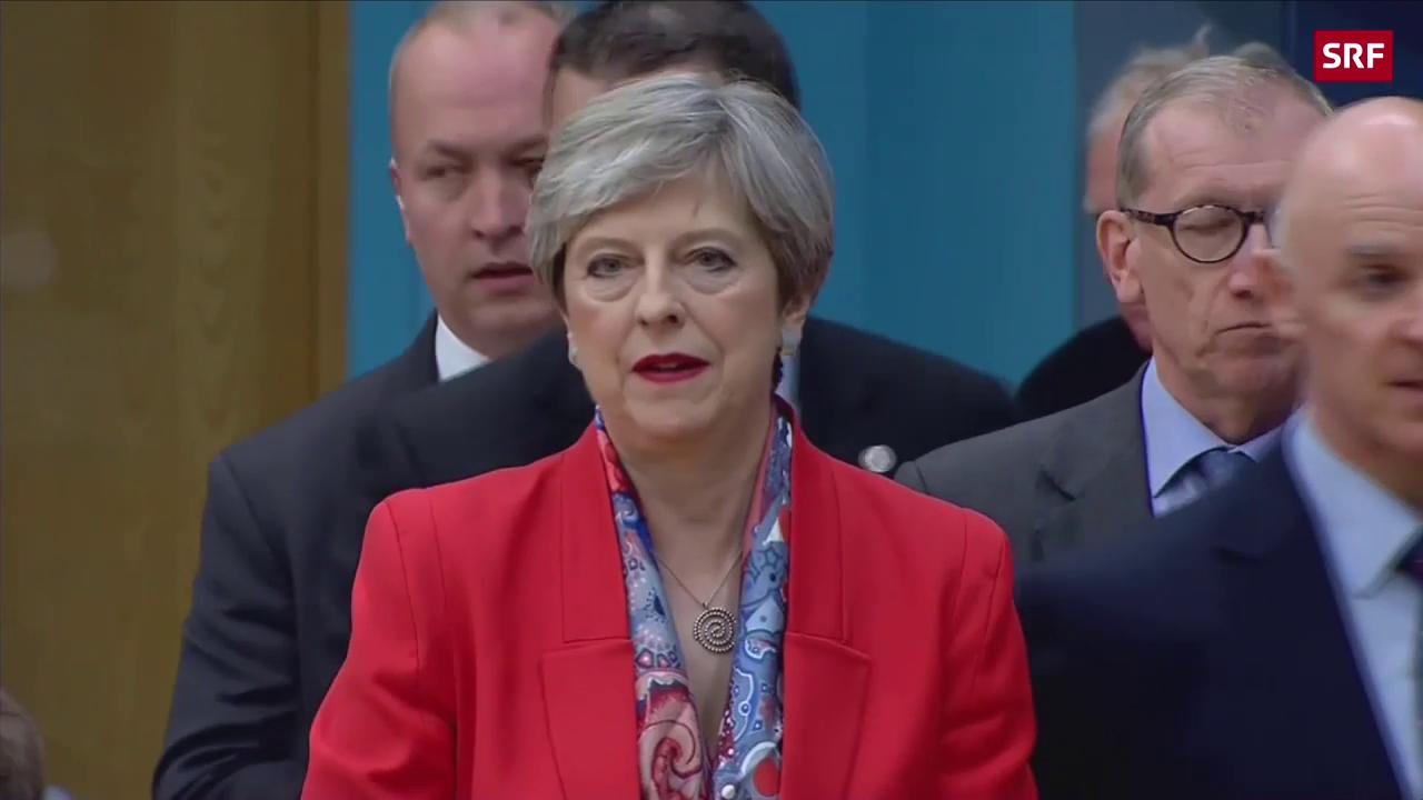 Herbe Schlappe für Theresa May