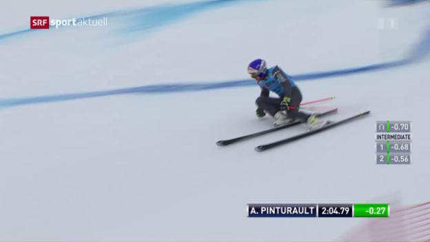 Video «Pinturault gewinnt Riesenslalom-Show vor Hirscher» abspielen