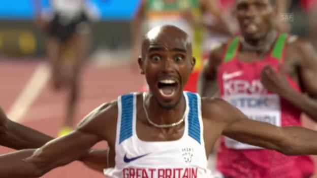 Video «Langstrecken-König Farah triumphiert über 10'000 m» abspielen