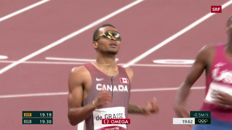 Andre de Grasse va per aur en il sprint sur 200 m