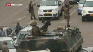 Video «Simbabwes Diktator Mugabe unter Hausarrest» abspielen