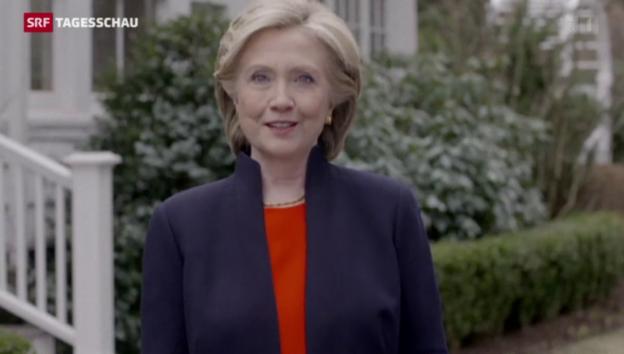 Video «Hillary Clinton will US-Präsidentin werden» abspielen