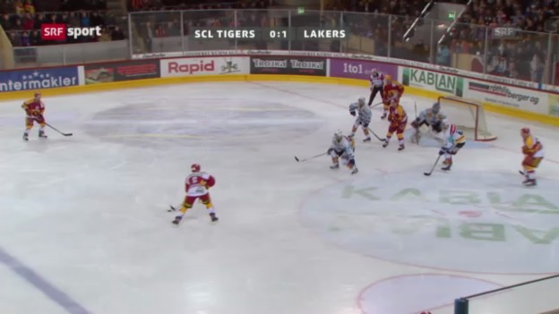 Video «Eishockey: Tigers - Lakers («sportaktuell»)» abspielen