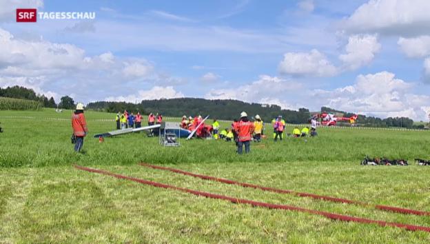 Video «Flugzeugabsturz in Ostschweiz» abspielen