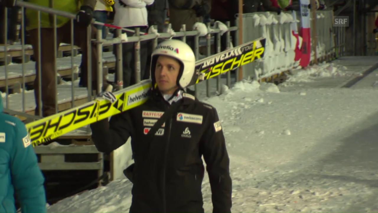 Simon Ammann vor dem Heimspringen in Engelberg