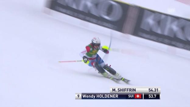Video «Ski. Slalom Kranjska Gora, 1. Lauf von Wendy Holdener («sportlive», 02.02.2014)» abspielen