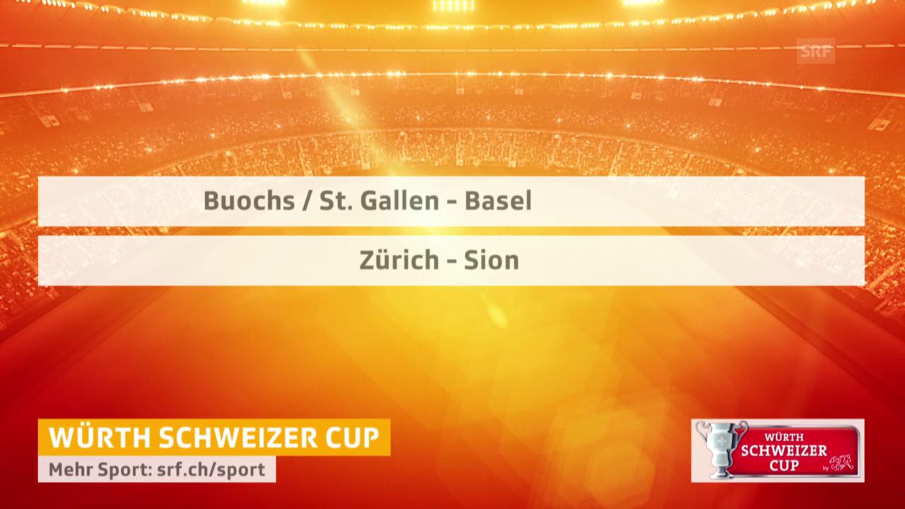 Fussball: Cup, Auslosung Halbfinals