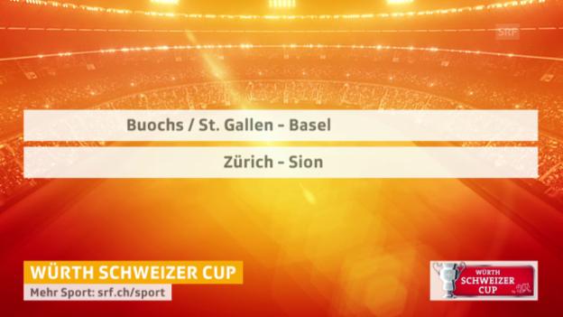 Video «Fussball: Cup, Auslosung Halbfinals» abspielen