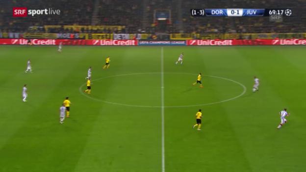Video «Fussball: Champions League, Achtelfinal, Dortmund-Juventus, 2:0 durch Morata» abspielen