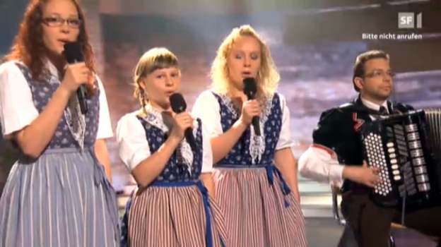 Video «Geschwister Weber mit dem Siegertitel «Guggerzytli»» abspielen