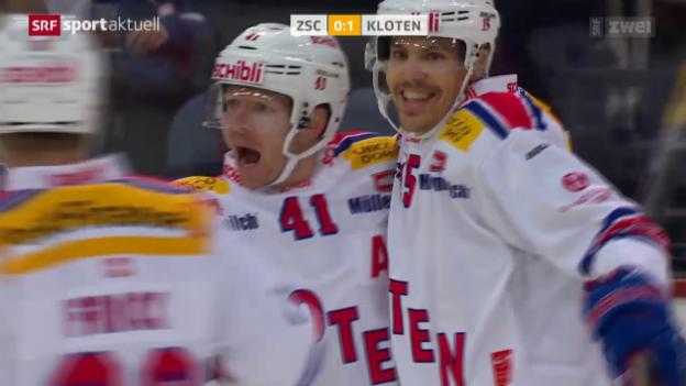 Video «Eishockey: NLA, ZSC Lions - Kloten» abspielen