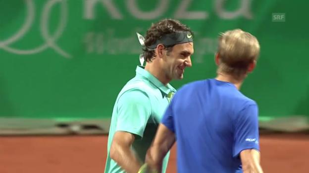 Video «Tennis: ATP Istanbul, Federer - Nieminen» abspielen