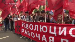 Video «Demonstrationen in Russland zum Rentenalter» abspielen
