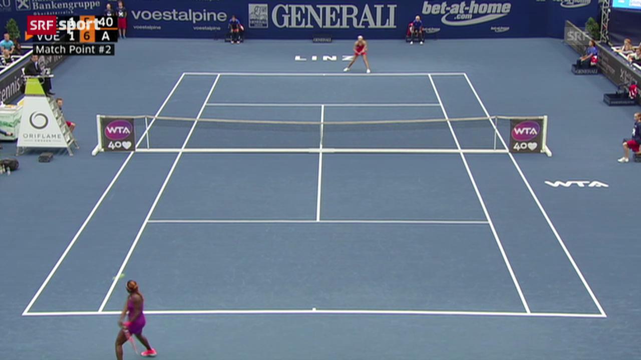 Tennis: Vögele - Stephens
