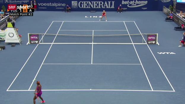 Video «Tennis: Vögele - Stephens» abspielen