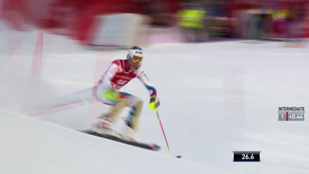 Video «Ski: Weltcup Männer, Slalom Are, 1. Lauf Ramon Zenhäusern» abspielen